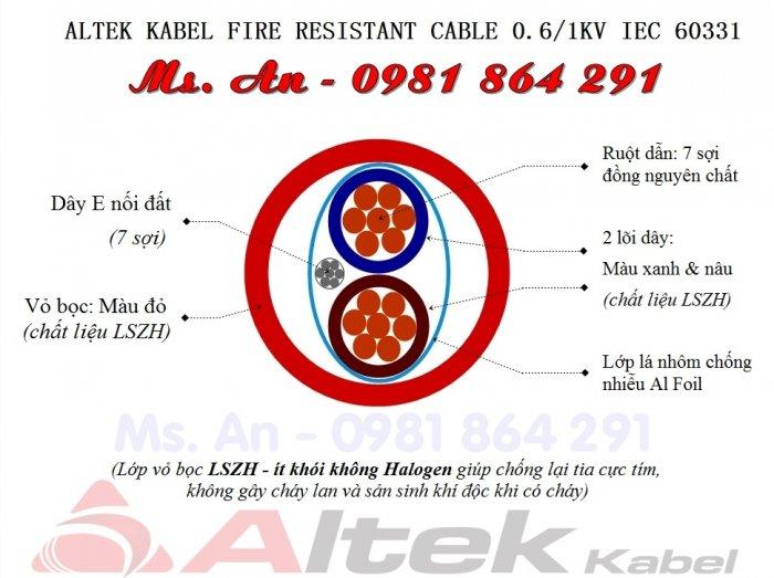Thông tin về Cáp chống cháy chống nhiễu Altek Kabel4