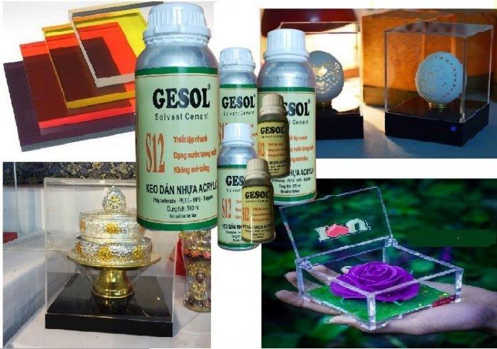Keo dán mica trong, keo dán mica không khói, S12-Gesol6