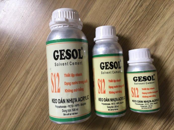 Keo dán mica trong, keo dán mica không khói, S12-Gesol1