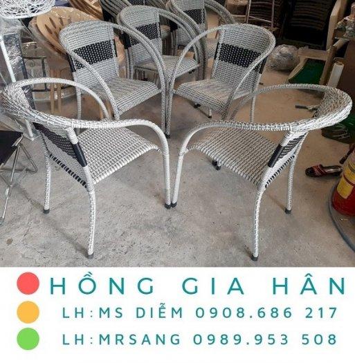 Bàn ghế mây nhựa Hồng Gia Hân M0040