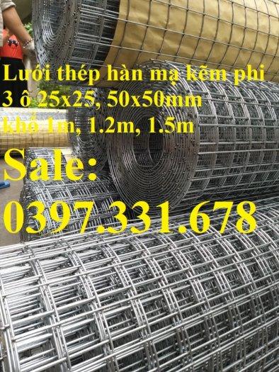 Lưới thép hàn mạ kẽm 3ly dạng cuộn sẵn kho tại Thanh Trì1