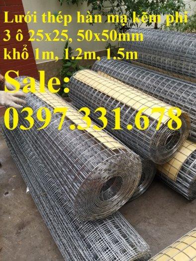 Lưới thép hàn mạ kẽm 3ly dạng cuộn sẵn kho tại Thanh Trì0
