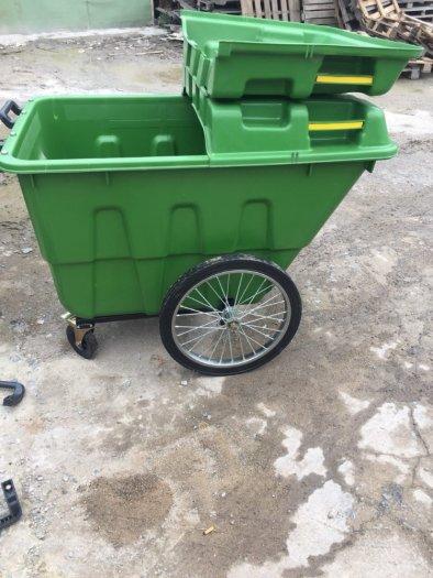 Xe gom rác nhựa 400 lít0