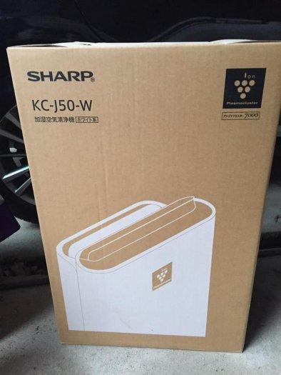 Máy lọc không khí khử mùi bù ẩm SHARP KC-J50 new 100% hàng nội địa Nhật0