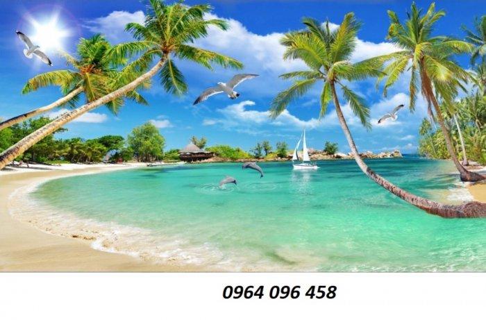 Tranh cảnh biển - tranh gạch 3d cảnh biển - TBVC37