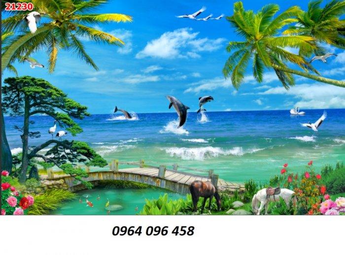 Tranh cảnh biển - tranh gạch 3d cảnh biển - TBVC36