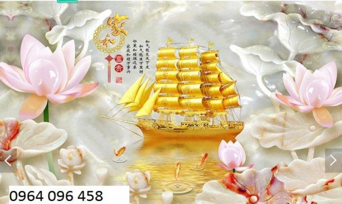 Tranh gạch 3d thuận buồm xuôi giá - HNBV44