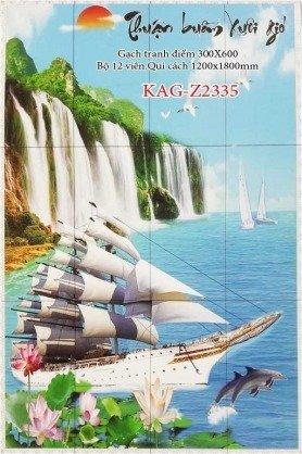 Tranh gạch 3d thuận buồm xuôi giá - HNBV41