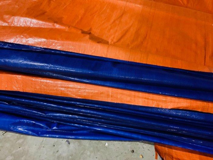 Bạt xanh cam, bạt xây dựng, che nắng mưa, che hàng hóa, nguyên cuộn khổ 4m x 50m4
