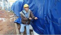 Bạt xanh cam, bạt xây dựng, che nắng mưa, che hàng hóa, nguyên cuộn khổ 4m x 50m2