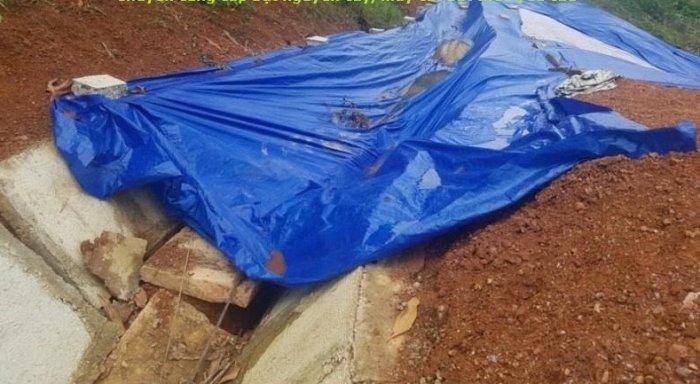 Bạt xanh cam, bạt xây dựng, che nắng mưa, che hàng hóa, nguyên cuộn khổ 4m x 50m1
