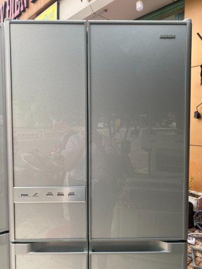 Tủ lạnh nội địa Hitachi 6 cánh Y5400 hút chân không mặt gương kính cường lực10