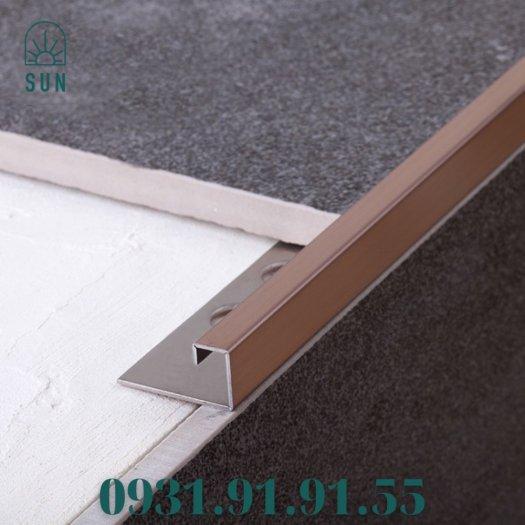 Nẹp góc vuông kế thúc gạch bằng inox - Nẹp góc vuông kết thúc sàn - Nẹp kết thúc dạng vuông0