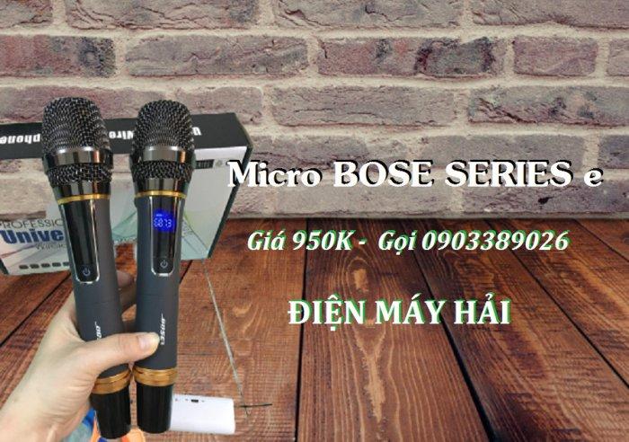 Micro không dây Bose Series E xài cho Loa kéo, Amply đều được3