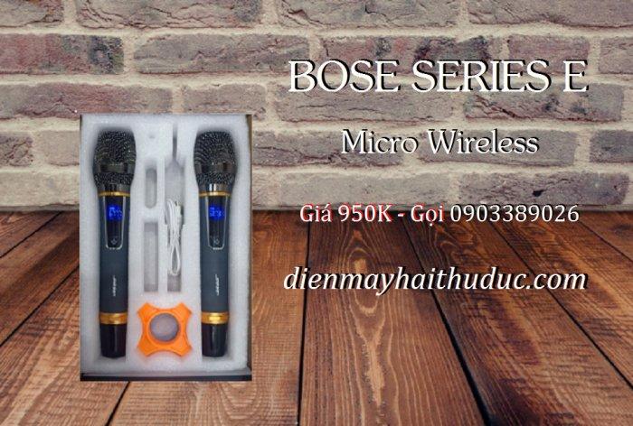 Micro không dây Bose Series E xài cho Loa kéo, Amply đều được0