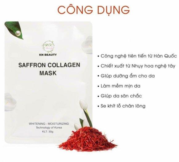 Mặt Nạ Tinh Nhụy Hoa Nghệ Tây KN Beauty Saffron Collagen Mask 30gr0
