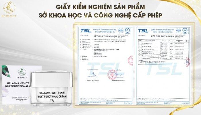 Kem Dưỡng Trắng Ngừa Nám KN Beauty Melasma - White Skin Multifunctional Cream 25 gram6