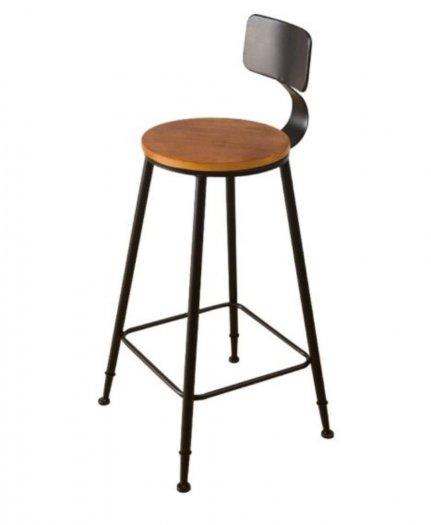 Ghế quầy bar chân sắt mặt gỗ0