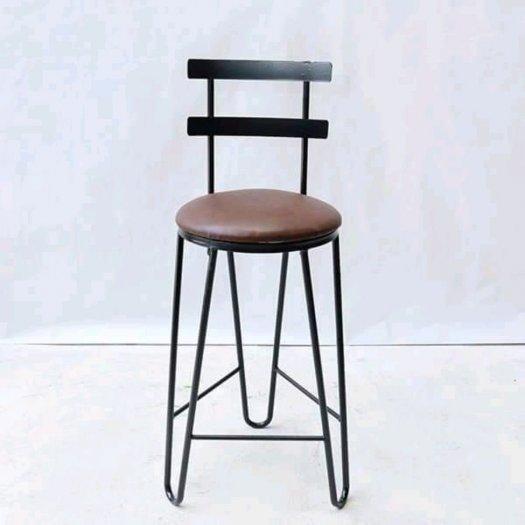 Ghế quầy bar chân sắt mặt gỗ10