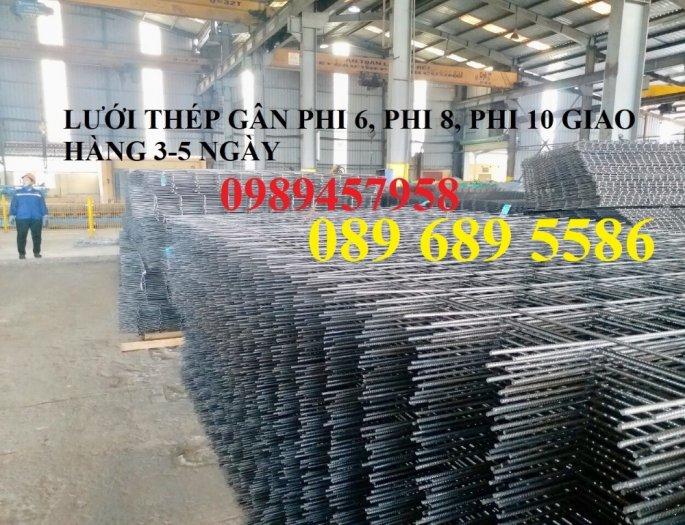Nhà máy sản xuất lưới thép hàn đổ bê tông phi 6 200x200 và phi 8, phi 109