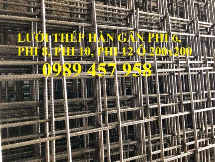 Nhà máy sản xuất lưới thép hàn đổ bê tông phi 6 200x200 và phi 8, phi 103