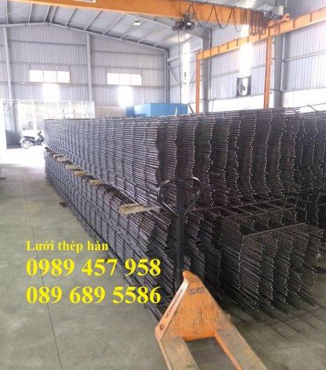 Nhà máy sản xuất lưới thép hàn đổ bê tông phi 6 200x200 và phi 8, phi 100