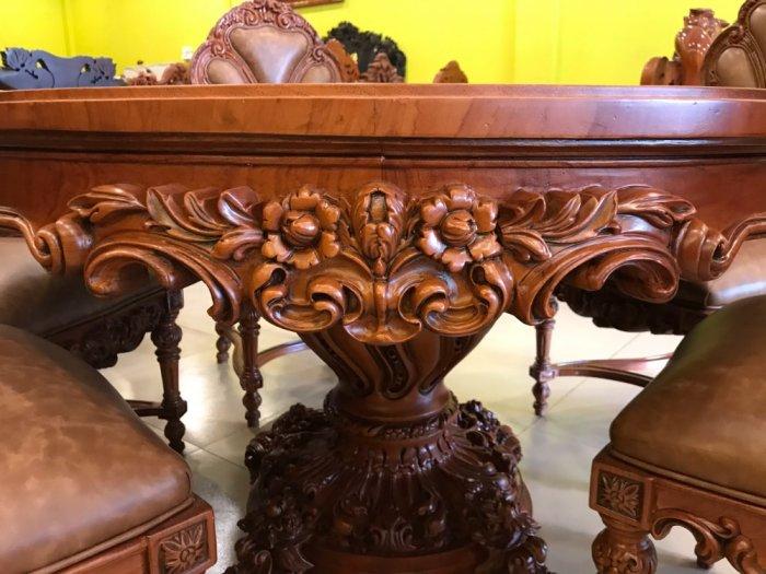 Mặt bàn ăn tròn cẩn veneer 1.27m*4cm MBA081E0