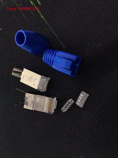 Hộp Hạt mạng Cat6A chống nhiễu FTP có đuôi tiện dụng0