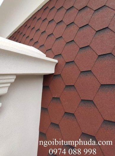 Tấm lợp bitum phủ đá nhập khẩu thổ nhĩ kỳ kiểu dáng vẩy rồng, tổ ong, hình chữ nhật6