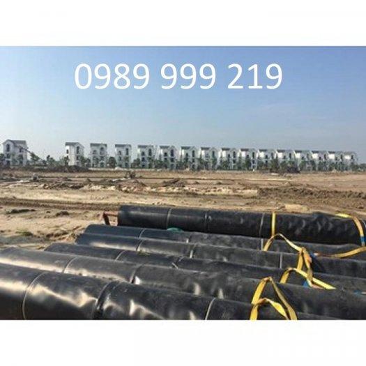 Sử dụng bạt hdpe 1.5mm khổ 4mx50m-200m2 lót dải đường2