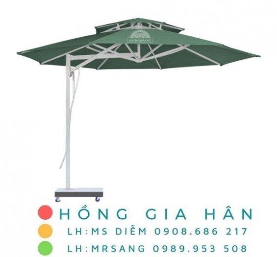 Dù lệch tâm che mưa nắng Hồng Gia Hân D0020