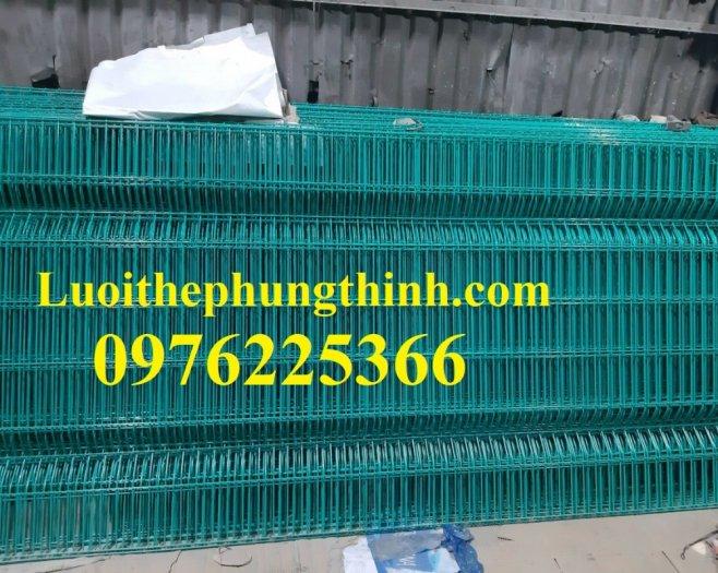 Hàng rào cột trái đào D5a50x150, D5a50x200 sơn tĩnh điện1