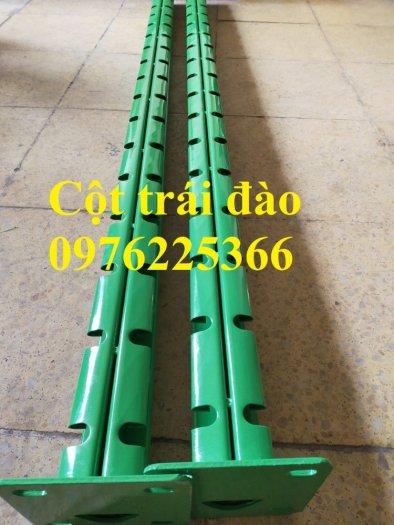 Hàng rào cột trái đào D5a50x150, D5a50x200 sơn tĩnh điện0