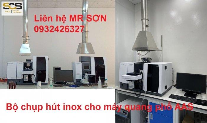 Bộ chụp hút inox cho máy quang phổ AAS5