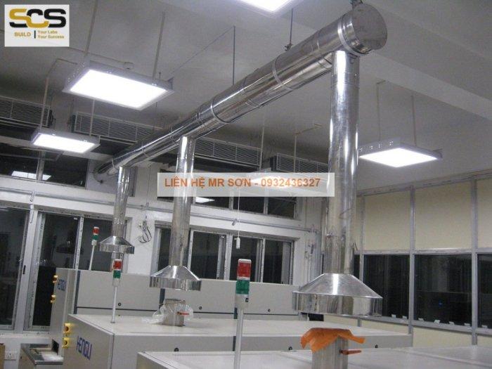 Bộ chụp hút inox cho máy quang phổ AAS4