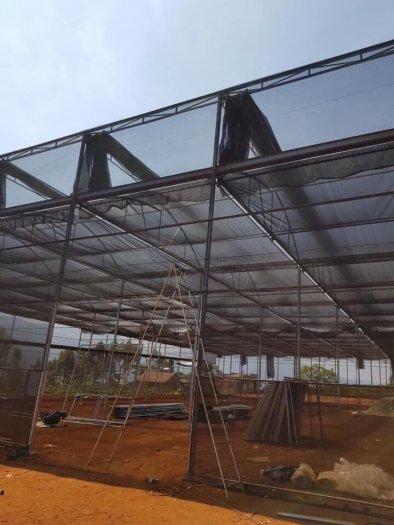 Lưới che công công trình, che chắn công trình, vườn ươm... nguyên cuộn 2m x 25m ( màu xanh)3