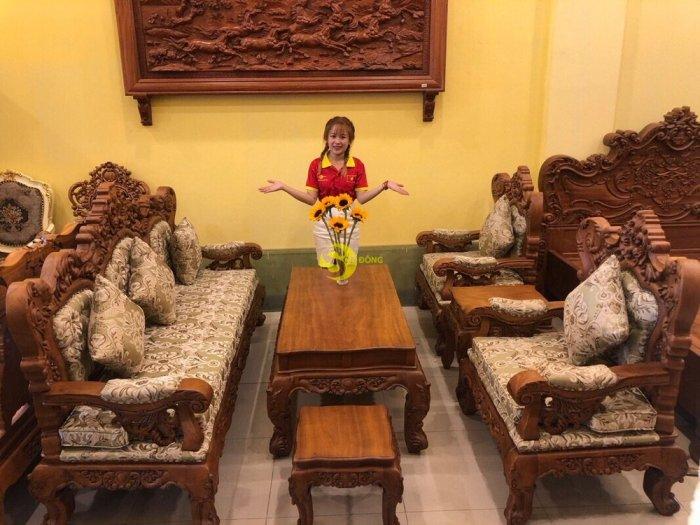 Bộ bàn ghế hoàng gia bọc vải  06 món BBG35000