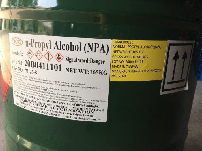 N-PROPANOL, N PROPYL ALCOHOL(NPA), Dung môi NPA2
