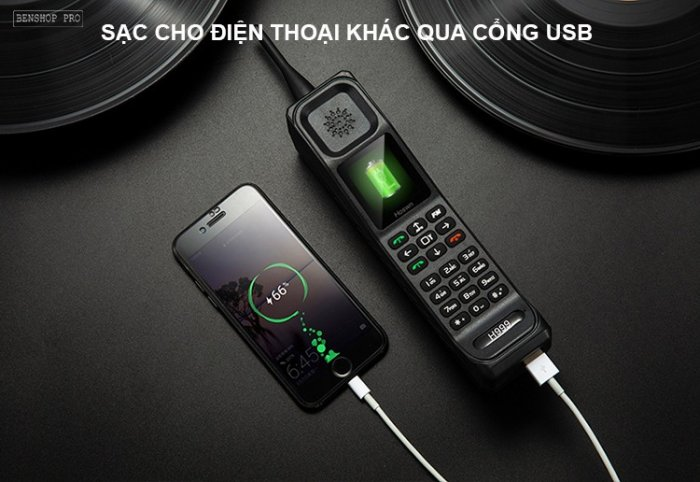 Điện thoại siêu bền, pin khủng, hỗ trợ sạc cho smartphone H9992