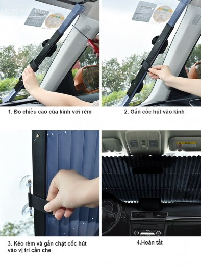 Rèm che nắng kính chắn gió chống tia UV cao cấp cho ô tô R803
