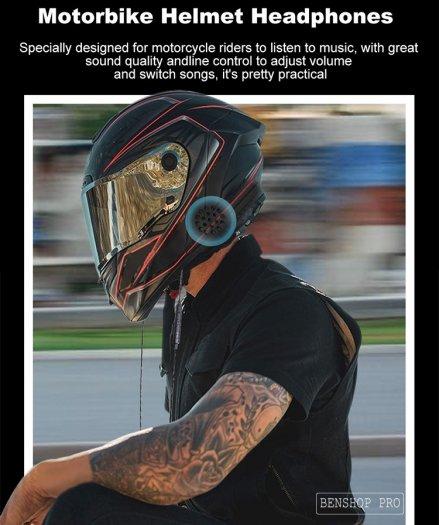 Tai nghe có dây gắn mũ bảo hiểm xe máy, xe điện T338