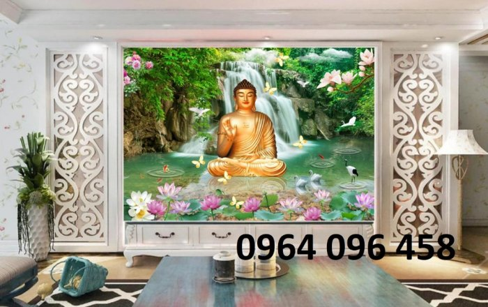 Tranh phật 3d - tranh gạch 3d hình phật - SKG430