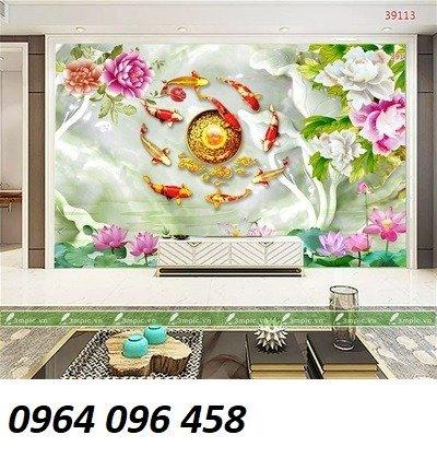 Gạch tranh 3d hoa giả ngọc - LHD326