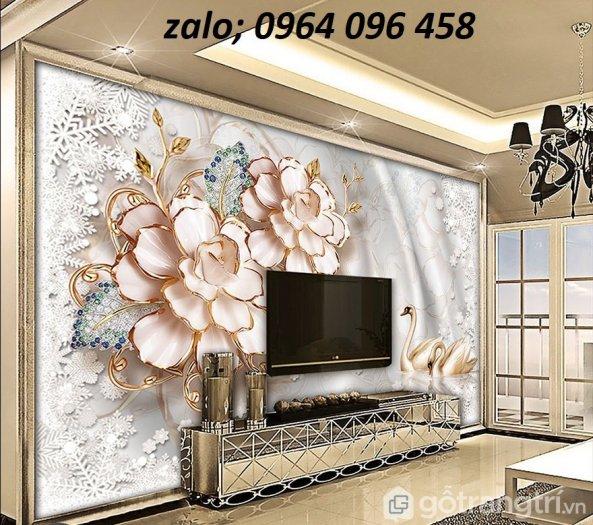 Gạch tranh 3d hoa giả ngọc - LHD322