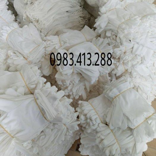 Bán buôn số lượng lớn găng tay cotong màu trắng1