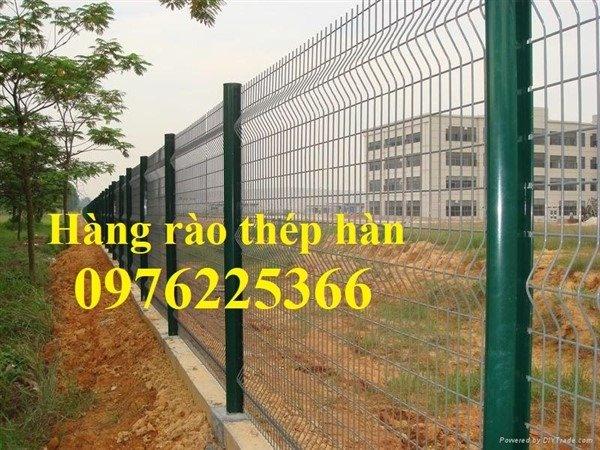 Hàng rào lưới thép, hàng rào gập đầu, hàng rào chấn sóng1