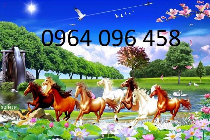 Tranh con ngựa 3d - tranh gạch con ngựa 3d - SKBV34