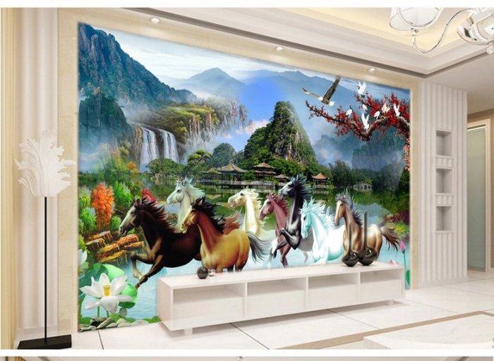Tranh con ngựa 3d - tranh gạch con ngựa 3d - SKBV31