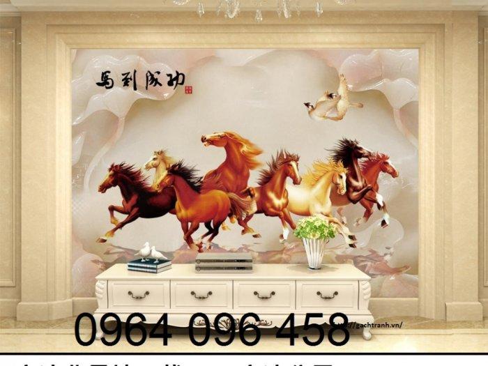 Tranh con ngựa 3d - tranh gạch con ngựa 3d - SKBV30