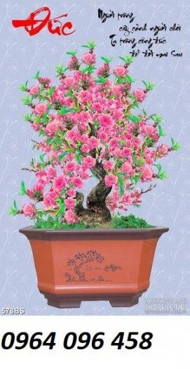 Tranh 3d hoa đào - tranh gạch 3d hoa đào - SCX321